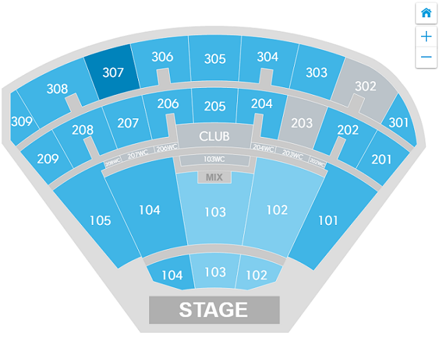 What is the interactive seat map and how do I use it? Caesars Palace Colosseum Seating Map on